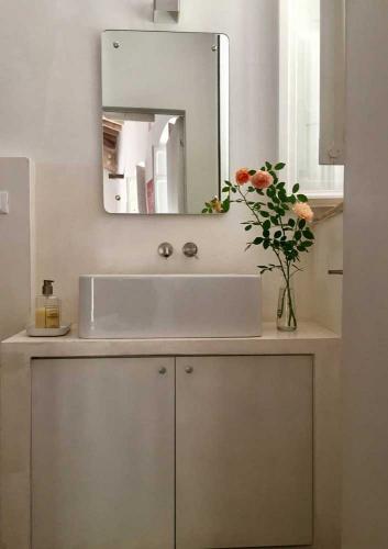 Das Badezimmer des Ferienhauses Assisi al Quattro. Urlaub in Umbrien