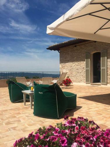 Historisches Zentrum der Ferienwohnung Assisi mit Terrasse zum Entspannen, Meditieren und Yoga