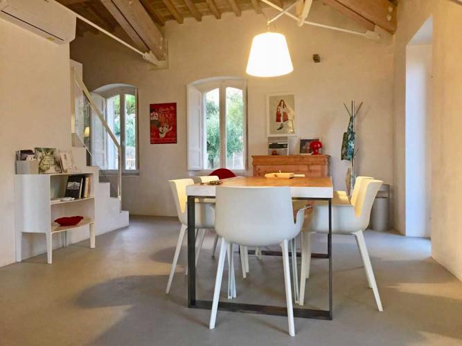Umbrien Assisi al Quattro Ferienhaus das Wohnraum mit Essbereich