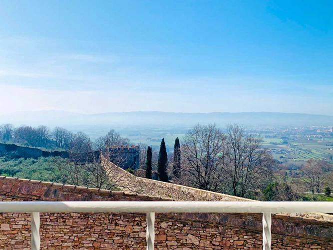 Panorama von der Terrasse des Ferienhauses Assisi Al Quattro